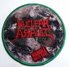 NUCLEAR ASSAULT HANDLE WITH CARE  WOVEN PATCH