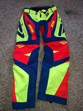 FXR Mens Neon/Red/Bluee Snowmobile Cold Cross Race Replica Pants Snocross