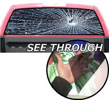 P155 Broken Glass Rear Window Tint Graphic Decal F150 Ram silverado 1500