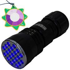 HQRP 21 LED UV 385 nM Ultra Violet Blacklight Flashlight TORCH LIGHT + UV Meter