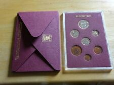 MAURITIUS PROOF COIN SET CENT TO RUPEE 1978