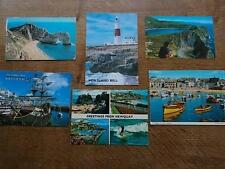 Collection 6 VTG Postcards DEVON CORNWALL Weymouth Portland Lulworth St Ives