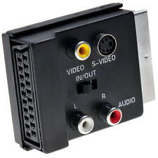Switchable SVHS Male/Female Adapter Scart to Scart S-Video 3 RCA Audio Adaptor