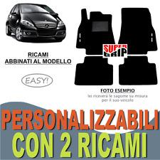 PER MERCEDES CLASSE A W169 TAPPETI AUTO MOQUETTE E FONDO GOMMA + 2 RICAMI EASY