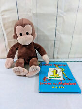"Applause Curious George Plush  17"" Stuffed Animal w/ Learns The Alphabet Book"