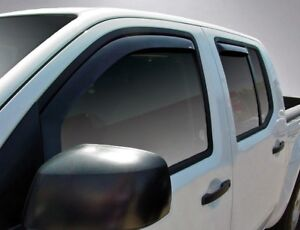 In-Channel Vent Visors for 2005 - 2019 Nissan Frontier Crew Cab