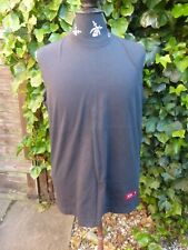 OAKLEY MUSCLE/VEST TOP/ T-SHIRT SLEEVELESS SIZE S BLACK COTTON