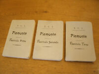Piemonte - Rare, 3 Fascicoli T.C.I. 796 Pag. Anno 1898