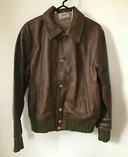 Levis Vintage Clothing Strauss Leather Jacket Brown Green LVC Size M NWT $1200