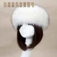 Fashion Women Fluffy Fox Fur Hat Headband Winter Thick Warm Ears Bomber Lady Hat
