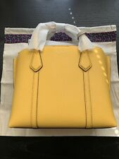 Tory Burch Perry triple compartment small handbag lemon drop yellow 56249 $298