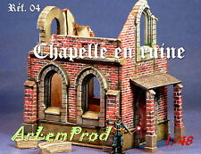KIT CHAPELLE EN RUINE  POUR DIORAMA 1/48 1/43  EXCLUSIVITE !!!