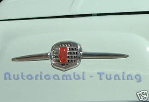 Frieze Panel Front Chrome Plated Metal for Fiat 500 D F