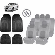 ALL GRAY HONEYCOMB SEAT COVERS AIRBAG READY SPLIT BENCH MATS FOR SUVS 1548
