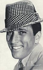 Andy Williams Penny Arcade Card 3 x 5 post Movie TV Star promo 1960s
