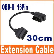 OBD-II OBD2 16Pin Male to Female Extension Cable Diagnostic Extender 30cm
