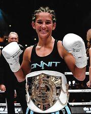 Tiffany Van Soest 8x10 Photo Picture w/ Glory Belt Muay Thai Kickboxing Invicta