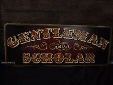 METAL GENTLEMEN SCHOLAR DECOR SIGN art old retro vintage style bar beer saloon
