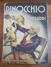 """""""PINOCCHIO"""" LIBRO - C.Collodi - Ed. MARZOCCO - 1940 - Illust. ATTILIO MUSSINO"""