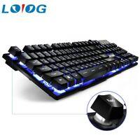 Color Backlight Gaming Keyboard Teclado Gamer Floating LED Backlit USB