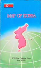 Very rare North Korea published MAP OF KOREA in English DPRK Kim Jong Il