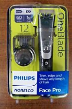 New Philips Norelco OneBlade Face Pro Hybrid Styler Trimmer + Shaver   QP6510/70