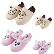 Aerusi Kids Adult Family Winter Warm Indoor Slippers Teddy Bear Soft Plush Shoes