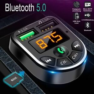 Bluetooth FM Transmitter Auto Radio Audio MP3 Player USB Ladegerät Adapter KFZ
