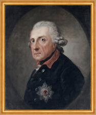 Friedrich der Große Anton Graff 1781 Preußen Leinwand Hohenzollern A2 157