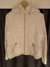 White outdoor coat - size 18
