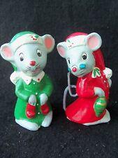 Vintage Christmas Santa & Mrs Claus Mouse Mice!!  2!!  JAPAN!!  CUTE DETAILS!