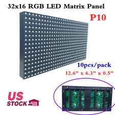 US Stock 10pcs/pack Outdoor P10 LED Display Medium 32x16 RGB LED Matrix Panel