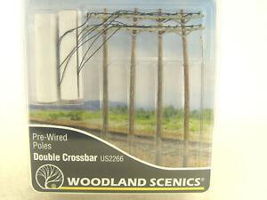 Strommaste mit Leitungen    - Woodland HO  - 1:87  Zubehör US2266  #E