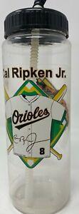 Baltimore Orioles Cal Ripken Jr. Plastic water bottle with straw.