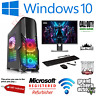 ULTRA FAST i5 i7 Desktop Gaming Computer PC 2TB 16GB RAM GTX 1660 Windows 10