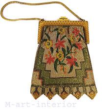 Art DECO sac de soiree projet paul poiret whiting & Davis costume bag purse 1920s