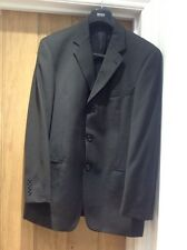 Hugo Boss suit M L made to measure Einstein Sigma jacket Hooker trousers 34 blac