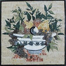 Full Healthy Fruit Bowl Pineapple Marble Mosaic Fl759