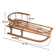 BAMBINIWELT Holzschlitten mit Rückenlehnen und Zugseil *NEU* sofort Lieferbar