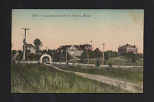 Morris Minnesota MN 1912 Agricultural School, Drive & Archway Gate, Handtinted