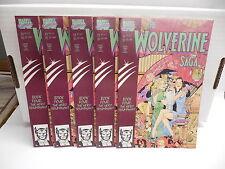 The Wolverine Saga Marvel Comic Book #4 X5 Mike Kaluta Cover Art
