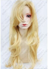 HOT~IB Mary blond wavy long Cosplay Party Fashion Wig 80cm free wig +GIFT