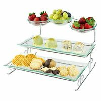3 Tier Server Stand with Trays & Bowls - Tiered Serving Platter