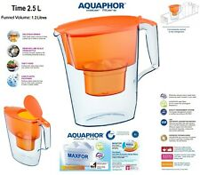 AQUAPHOR TIME Water Filter Pitcher Jug Orange (2.5L) 1 Replacement cartridge