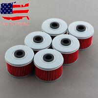6 Pcs Oil Filters For Honda ATC250ES TRX250 TRX300 TRX350 TRX400EX TRX420 TRX450