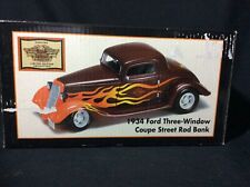 Harley Davidson 1:24 1934 Ford Three Window Coupe Street Rod Bank 97460-01V