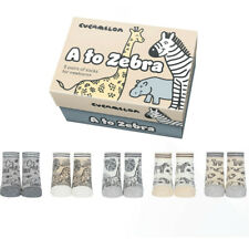 Cucamelon Alphabet Newborn Gift Socks Animal Design
