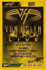 EDDIE VAN HALEN - HIGH QUALITY VINTAGE BAND SIGNED 1998 CONCERT TOUR POSTER