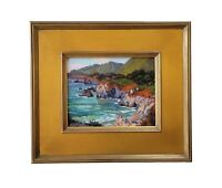 James Dudley Slay Listed California Coastal Big Sur Pacific Landscape Painting
