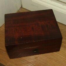 ANCIENNE BOITE A BIJOUX COUTURE en BOIS antique sewing jewellery jewelry box XIX